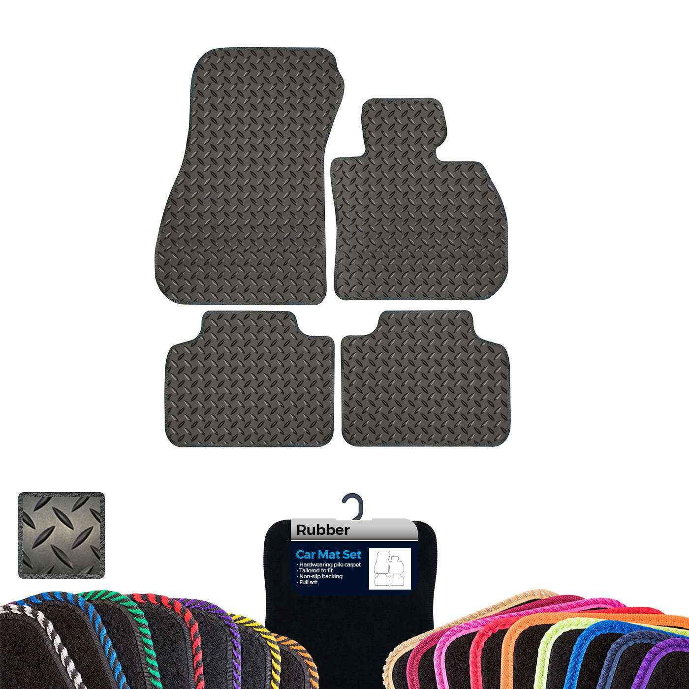 2014-On BMW 2 Series F22 New Black Luxury Super Thick Carpet Tailored Car Mats