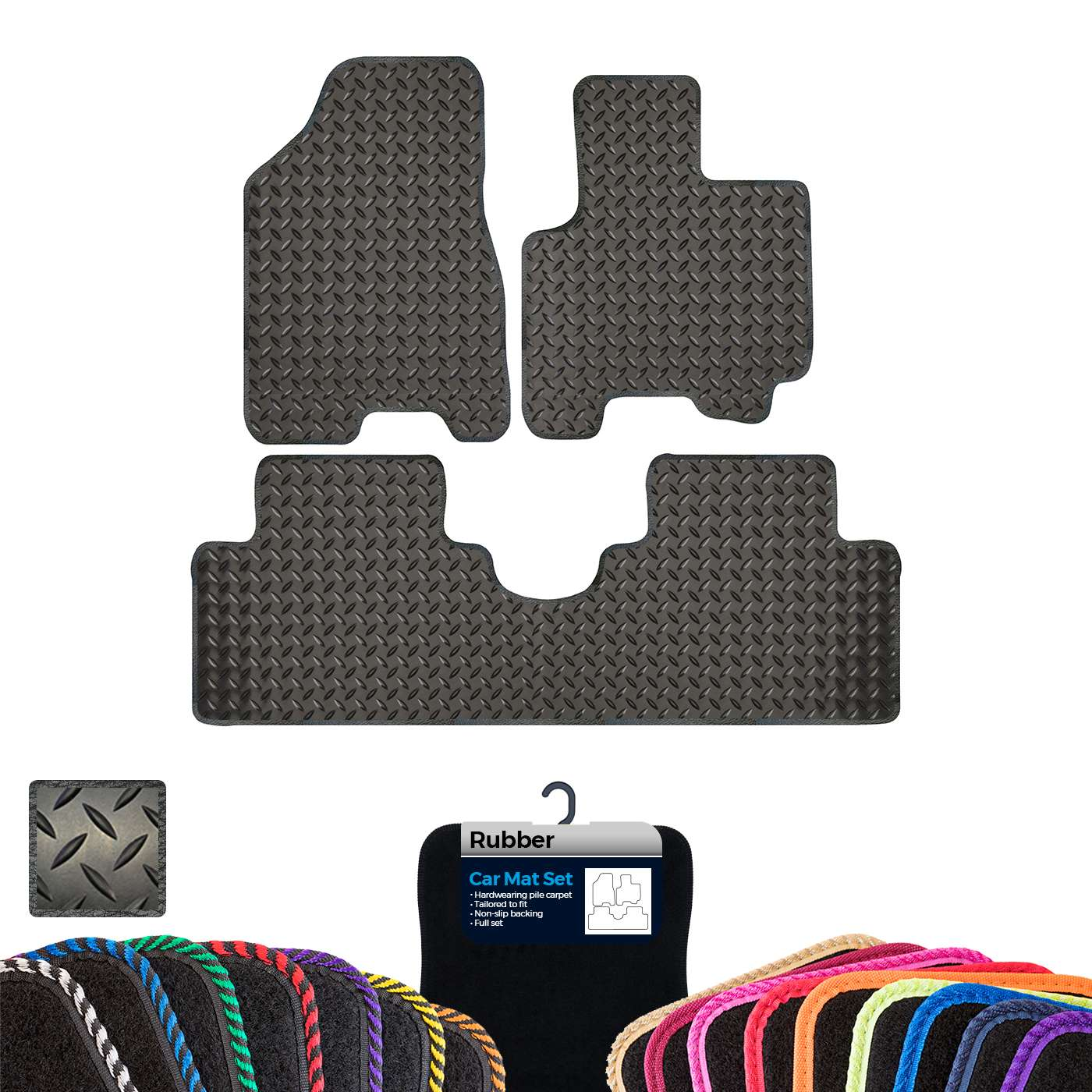 2 Clip 07 ON 1 SERIES SINGLE DRIVERS CAR MAT TAILORED FULLY BMW E82