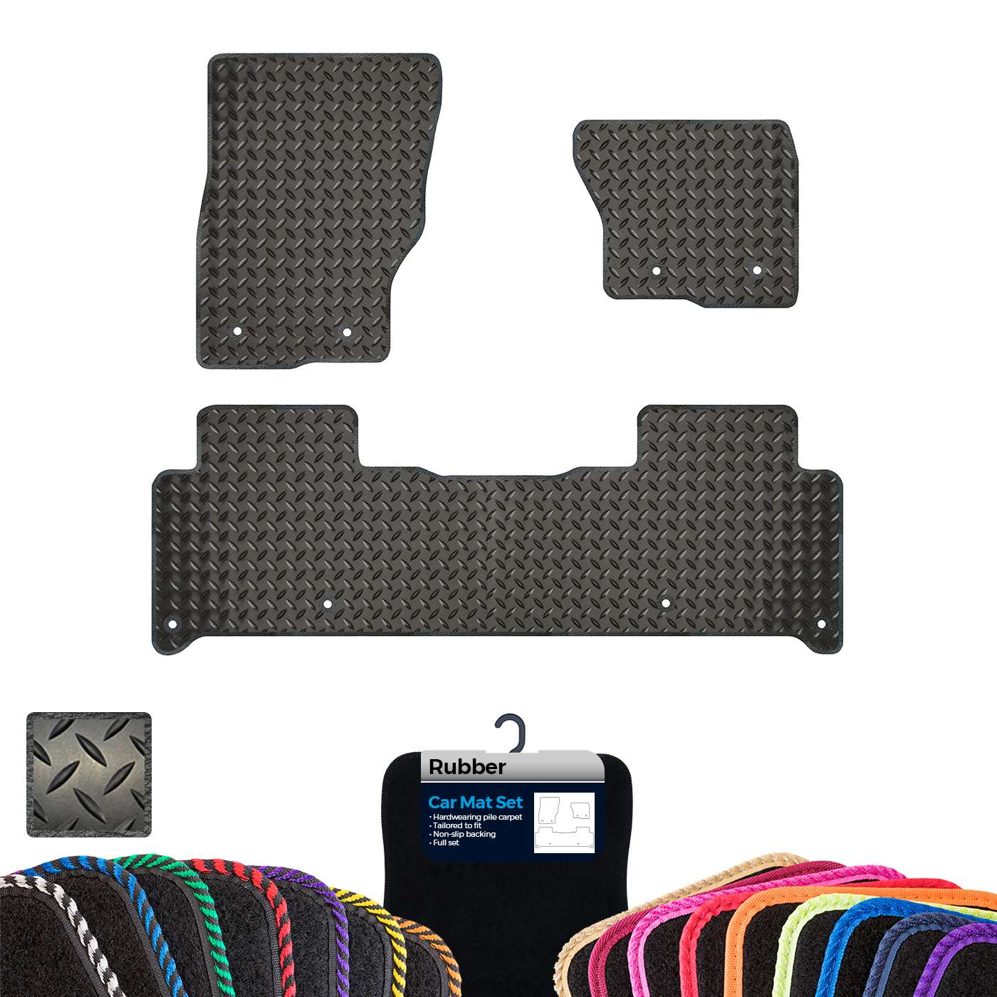 Custom Rubber Car Mats to fit Land Rover Discovery 5 2017 ...