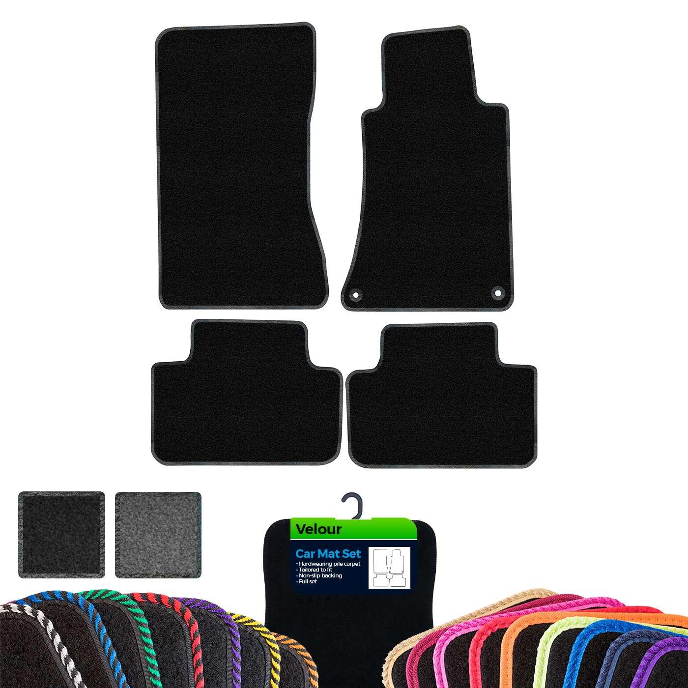 Super Velour Black//Blue Trim Car mat set Citroen C2 03